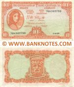 Ireland (Republic) 10 Shillings 1.9.1959 (78N 342789) (circulated) VF-XF