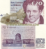 Ireland (Eire) 20 Pounds 15.5.1996 (JFB 765108) (circulated) F-VF