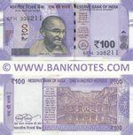 India 100 Rupees 2018 (6FH/3382xx) UNC