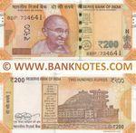 India 200 Rupees 2019 (8BP/7346xx) UNC
