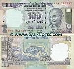 """India 100 Rupees 2007 """"L"""" (9FS/78795x) UNC"""