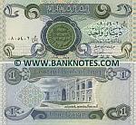 Iraq 1 Dinar 1984 (08054xx waaw/421) UNC