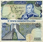 Iran 200 Rials (1974-79) (129/974113) (circulated) VF