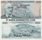 Iceland 100 Kronur 1961 (DA298766xx) UNC