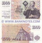 Iceland 1000 Kronur 22.5.2001 (Sig.: Øygard) (E461450xx) UNC