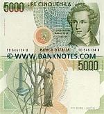 Italy 5000 Lire 4.1.1985 (GD 6057xx S) UNC