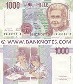 Italy 1000 Lire D.1990 (FA 8977xx T) UNC
