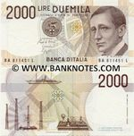 Italy 2000 Lire D.1990 (SA 922776 B) UNC