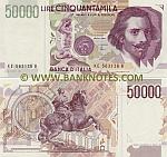 Italy 50000 Lire D.1992 (KE 563131 B) UNC