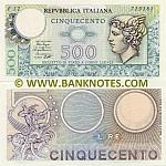 Italy 500 Lire 14.2.1974 (E02/739428) UNC