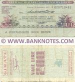 Italy Mini-Cheque 200 Lire 15.2.1977 (Banco di Chiavari e.d. Riviera Ligure) (020710462) (circulated) VG