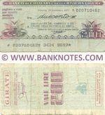 Italy Mini-Cheque 200 Lire 15.2.1977 (Banco di Chiavari e.d. Riviera Ligure) (020710462) (circulated) VG