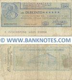 Italy Mini-Cheque 200 Lire 23.1.1976 (L'Istituto Bancario San Paolo di Torino) (223230725) (circulated) F