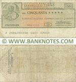Italy Mini-Cheque 50 Lire 29.1.1976 (L'Istituto Bancario San Paolo di Torino) (252841735) (circulated) VG-F