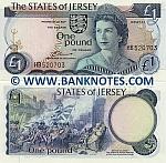 Jersey 1 Pound (1976-88) (HB5207xx) UNC