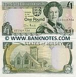 Jersey 1 Pound (2000) (AEC5217xx) UNC