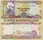 Jamaica 500 Dollars 15.1.2003 (GG3927xx) UNC