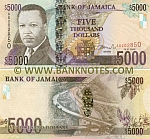 Jamaica 5000 Dollars 15.1.2009 (AB202844) UNC