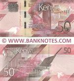 Kenya 50 Shillings 2019 (AC25077xx) UNC