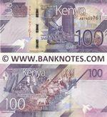 Kenya 100 Shillings 2019 (AB19097xx) UNC