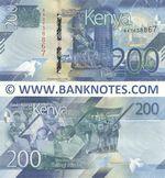 Kenya 200 Shillings 2019 (AA2638867) UNC