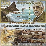 Kerguelen 200 Francs 5.11.2010 (0269x) (polymer) UNC