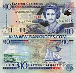 Saint Kitts & Nevis 10 Dollars (2000) UNC