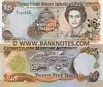 Cayman Islands 25 Dollars 2006 (C/2 0002xx) UNC