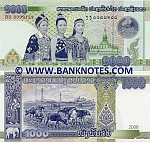 Laos 1000 Kip 2008 (DD00991xx) UNC