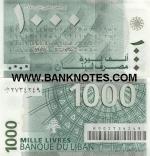 Lebanon 1000 Livres 2004 (0T/0 273420x) UNC