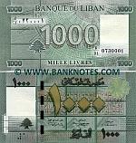 Lebanon 1000 Livres 2011 (K/01 07303xx) UNC