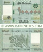 Lebanon 100,000 Livres 2017 (E196857374) UNC