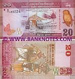 Sri Lanka 20 Rupees 1.1.2010 UNC
