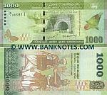 Sri Lanka 1000 Rupees 1.1.2010 UNC