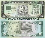 Liberia 5 Dollars 6.4.1991 UNC