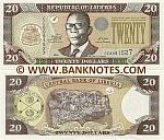 Liberia 20 Dollars 2009 (CE80915xx) UNC