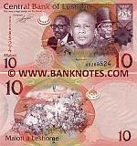 Lesotho 10 Maloti 2010 (AB2685xx) UNC