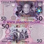 Lesotho 50 Maloti 2010 (AA0363xx) UNC