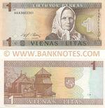 Lithuania 1 Litas 1994 (AAA36633xx) UNC