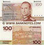 Luxembourg 100 Francs (1986-1993) Pair # R999712 + T999712. UNC