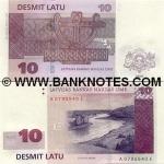 Latvia 10 Latu 2000 (A5790897D) UNC