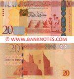 Libya 20 Dinars (2013) (#I Dal/15 4416415) UNC