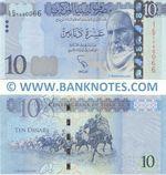 Libya 10 Dinars (2015) (#I Jim/9 104006x) UNC