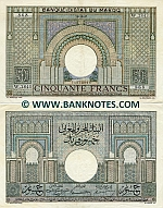 Morocco 50 Francs 28.10.1947 (circulated) XF
