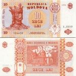 Moldova 10 Lei 1994 (C.0029/4540xx) UNC