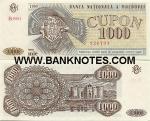 Moldova 1000 Cupon 1993 (B.0004/9267xx) UNC