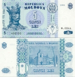 Moldova 5 Lei 1995 (B.0031/532xxx) UNC