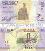 Madagascar 1000 Ariary (2017) (B706763xx) UNC
