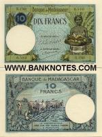 Madagascar 10 Francs (1937-47) (H.1768/0,588) UNC