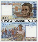 Madagascar 1000 Francs (1994) (B423954xx) UNC